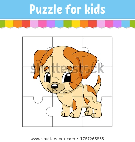 jigsaw puzzle game with dogs and puppies Stock photo © izakowski