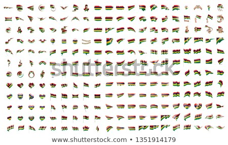 very big collection of vector flags of the Mauritius Stock photo © butenkow