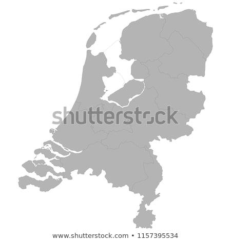 Países Bajos país mapa simple negro silueta Foto stock © evgeny89