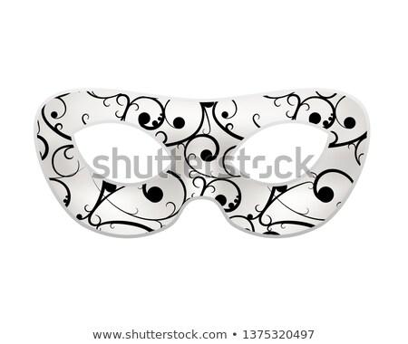 Hellen Maske schwarz Barock Muster weiß Stock foto © evgeny89