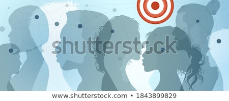 Targeted communication. Target individuals. Stock photo © olivier_le_moal