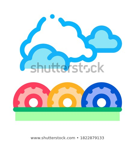 Ugrik ikon vektor skicc illusztráció felirat Stock fotó © pikepicture