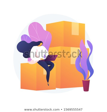 Servicios vector metáfora apartamento alquilar alojamiento Foto stock © RAStudio