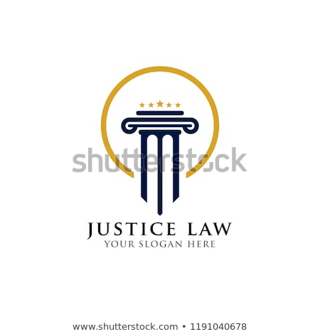 justice law Logo Template vector Stock photo © Ggs