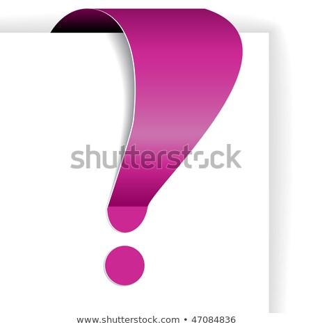 Różowy wykrzyknik tag ważny rynku informacji Zdjęcia stock © orson