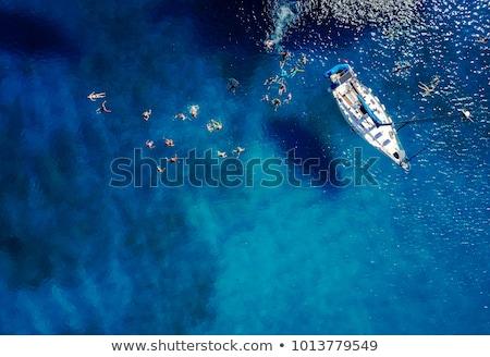 palm · boten · tropisch · strand · Thailand · eiland · boom - stockfoto © smithore
