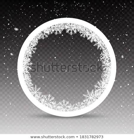 морозный шаблон стекла синий снега льда Сток-фото © cookelma