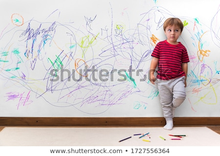 Painter leaning against wall Stock photo © photography33