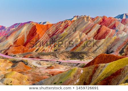 montanhas · colorido · paisagem · virgem · floresta · primavera - foto stock © photocreo