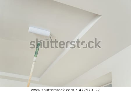 Decorator painting a ceiling with a roller Stock photo © photography33