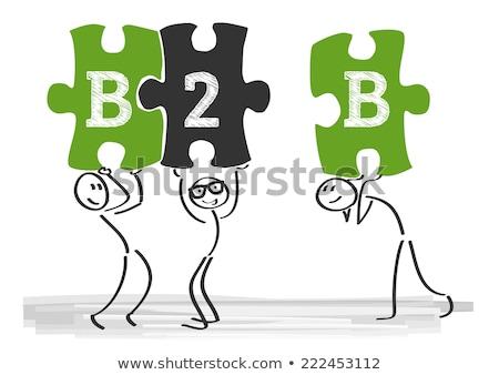 頭字語 · b2b · ビジネス · 書かれた · チョーク · 黒板 - ストックフォト © bbbar