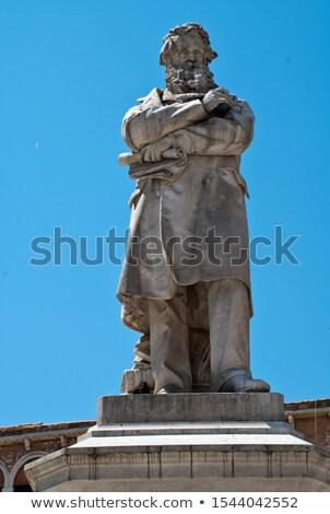 Statue of Nicolo Tommaseo in Venice, Italy Stock photo © vladacanon