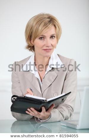 kadın · günlük · gülümseme · kitap · kadın · sekreter - stok fotoğraf © photography33