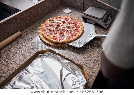 男 ピザ ピール キッチン 業界 ストックフォト © photography33