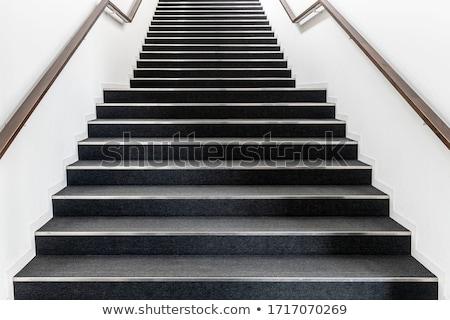Hosszú beton lépcsőfeljáró ősi végtelen napos idő Stock fotó © vankad