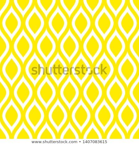 seamless pattern of yellow lemon slices stock photo © boroda