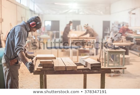 Carpenter with a sander Stock photo © photography33