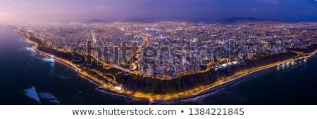 Parque edifícios costa lima Peru residencial Foto stock © ildi