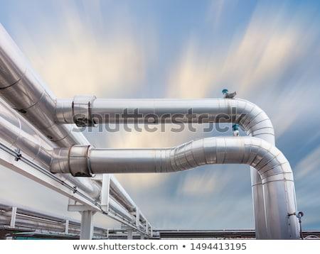 Endüstriyel mavi gökyüzü teknoloji mavi sanayi yağ Stok fotoğraf © kawing921