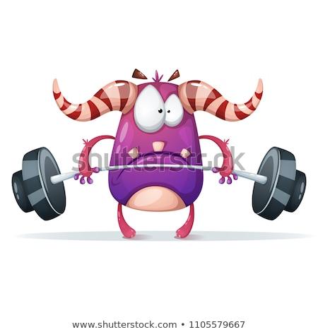 смешные · монстр · спортзал · изолированный · серый - Сток-фото © RAStudio