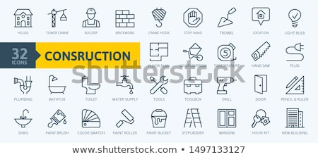 plumber on stepladder Stock photo © photography33