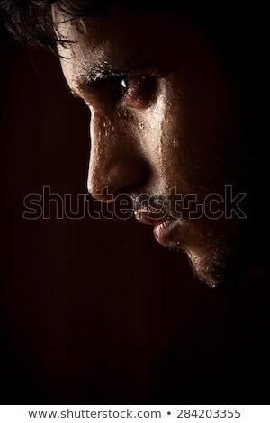 młodych · indian · zły · człowiek · pocenie · się · ciemne - zdjęcia stock © ziprashantzi