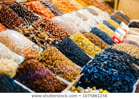 Organic Different Types Of Dried Or Candied Fruits At A Street M Stock photo © Kuzeytac