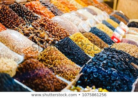 Orgânico diferente secas cristalizado frutas rua Foto stock © Kuzeytac