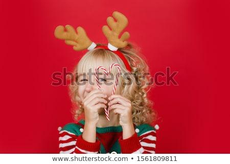улыбаясь · Рождества · подарки · зима · одежду - Сток-фото © dolgachov