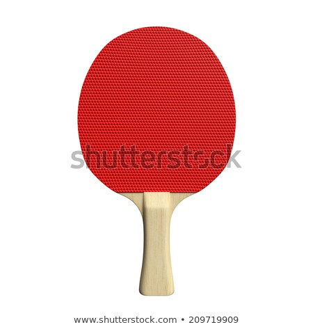 Ping pong paddle isolated on white Stock photo © shutswis