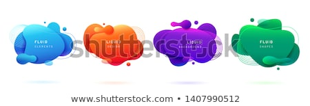 color blobs stains set stock photo © adamson