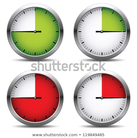 Stockfoto: Stopwatch · gekleurd · pijl · ingesteld · witte · vier
