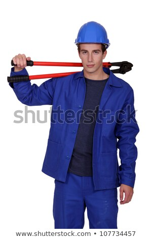craftsman holding an enormous pair of pliers Stock photo © photography33