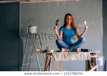 projekt · lakásfelújítás · szerszámok · kereskedelem · papír · építkezés - stock fotó © photography33