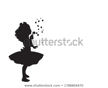 happy girl blow bubbles isolated stock photo © acidgrey