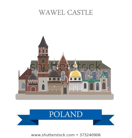 Vistas Polônia cidade velha gótico castelo céu Foto stock © linfernum