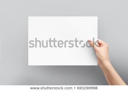 kız · kâğıt · kart · kadın · eller - stok fotoğraf © iko