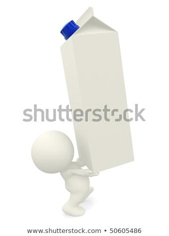 3d man, and a milk box Stock photo © digitalgenetics