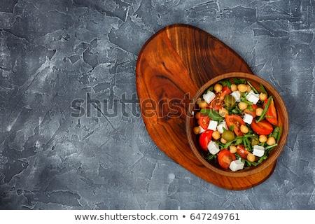 豆腐 トマト ボード 食品 ディナー 野菜 ストックフォト © M-studio