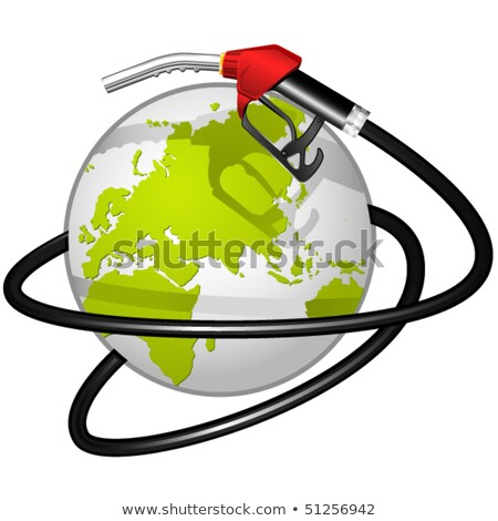 Terrestrial globe obvoluted Fuel hose Stock photo © Winner