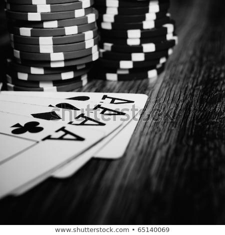 Casino table vert bleu blanche Photo stock © wavebreak_media