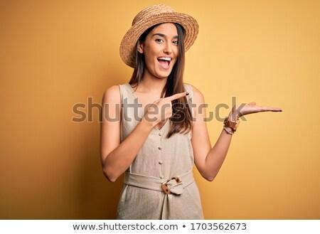 женщину · Постоянный · улыбаясь · платье · Sexy - Сток-фото © wavebreak_media
