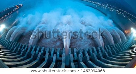 Foco construção paisagem montanha energia poder Foto stock © jarp17