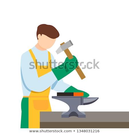 Man wielding sledge-hammer Stock photo © photography33