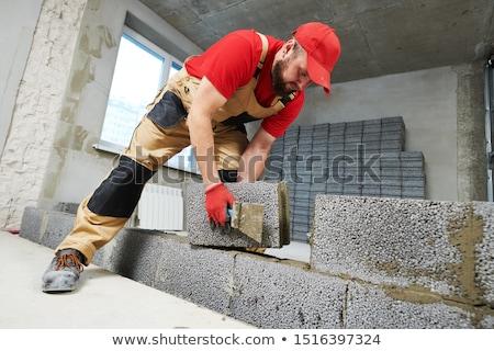 maçon · marteau · ciseler · homme · construction · industrie - photo stock © hofmeester