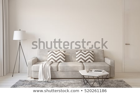 Apartamento sala de estar ver casa Foto stock © eldadcarin
