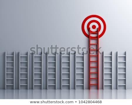 doel · woord · target · papier · achtergrond · toekomst - stockfoto © Ansonstock