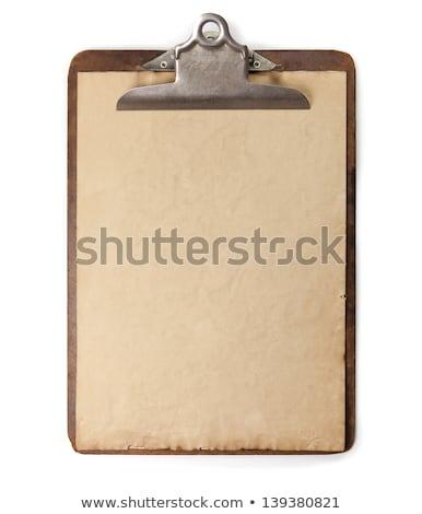 Antique clipboard Stock photo © trgowanlock