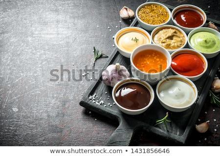 ストックフォト: 食品 · 木材 · 背景 · ディナー