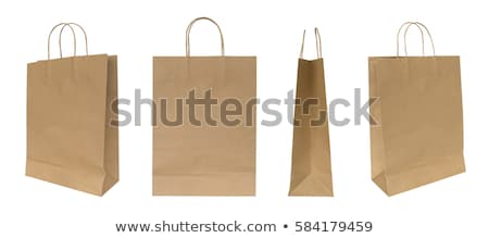 three ecological paper bags stock photo © Marfot